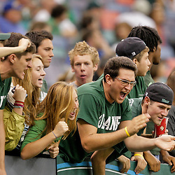 Sep 26, 2009; New Orleans, LA, USA;  Tulane Green Wave fans cheer from the stands against the McNesse State Cowboys at the Louisiana Superdome. Tulane defeated McNeese State 42-32. Mandatory Credit: Derick E. Hingle-US PRESSWIRE