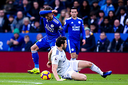 James Maddison of Leicester City takes on Harry Arter of Cardiff City - Mandatory by-line: Robbie Stephenson/JMP - 29/12/2018 - FOOTBALL - King Power Stadium - Leicester, England - Leicester City v Cardiff City - Premier League