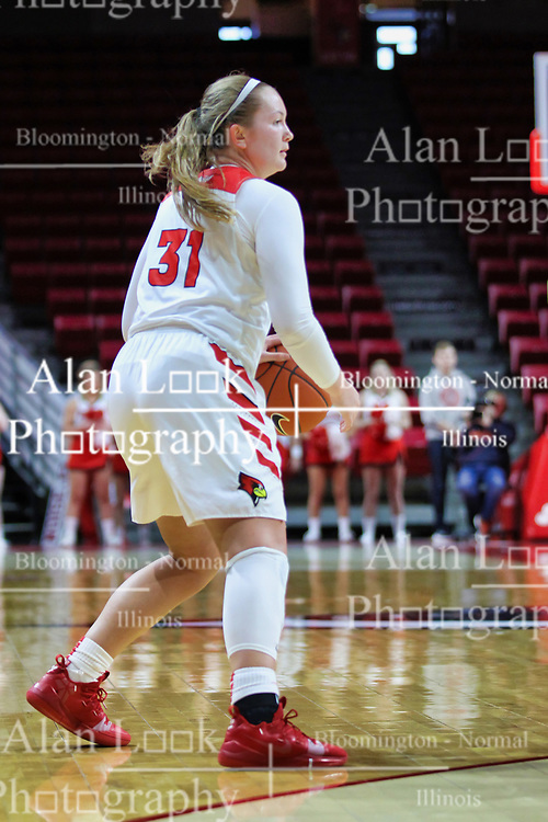 NORMAL, IL - January 06: Kayel Newland during a college women's basketball game between the ISU Redbirds and the Drake Bulldogs on January 06 2019 at Redbird Arena in Normal, IL. (Photo by Alan Look)