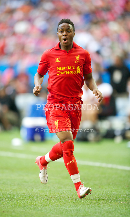 TORONTO, CANADA - Saturday, July 21, 2012: Liverpool's Raheem Sterling in action against Toronto during the first match of the North American pre-season tour at the Rogers Centre. (Pic by David Rawcliffe/Propaganda)