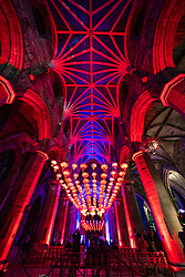 Edinburgh, Scotland, UK. 22 January, 2020. Edinburgh's Burns and Beyond Festival features 400 Chinese red lanterns hanging inside St Giles' Cathedral, Edinburgh, to mark start of the Chinese New Year celebrations. Burns Night on  Saturday January 25, coincides with Chinese New Year, dates that will not coincide again for another 76 years. Iain Masterton/Alamy Live News.