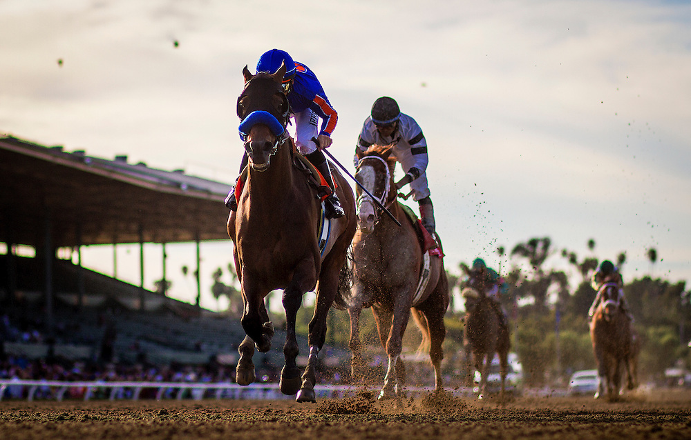 Game on Dude, ridden by Mike Smith wins the Santa Anita Handicap (G1) at Santa Anita Park on March 8, 2014 in Arcadia, California (Photo by Evers/Eclipse Sportswire)
