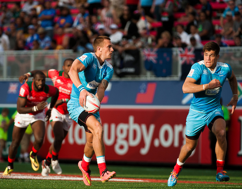 during the pool stage of the 2016 USA Sevens leg of the HSBC Sevens World Series at Sam Boyd Stadium  Las Vegas, Nevada. March 4, 2016.<br /> <br /> Jack Megaw for USA Sevens.<br /> <br /> www.jackmegaw.com<br /> <br /> 610.764.3094<br /> jack@jackmegaw.com