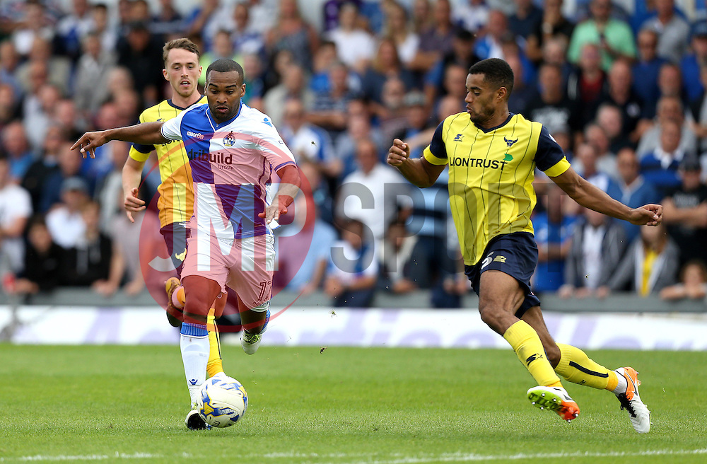 Jermaine Easter of Bristol Rovers takes on Curtis Nelson of Oxford United - Mandatory by-line: Robbie Stephenson/JMP - 14/08/2016 - FOOTBALL - Memorial Stadium - Bristol, England - Bristol Rovers v Oxford United - Sky Bet League One