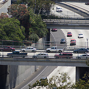 Traffic on San Diego freeway. San Diego, CA.