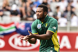 March 4, 2017 - Auckland, New Zealand - Andile Phehlukwayo of South Africa during the final match of  One Day International series between New Zealand and South Africa at Eden Park on March 4, 2017 in Auckland, New Zealand (Credit Image: © Shirley Kwok/Pacific Press via ZUMA Wire)