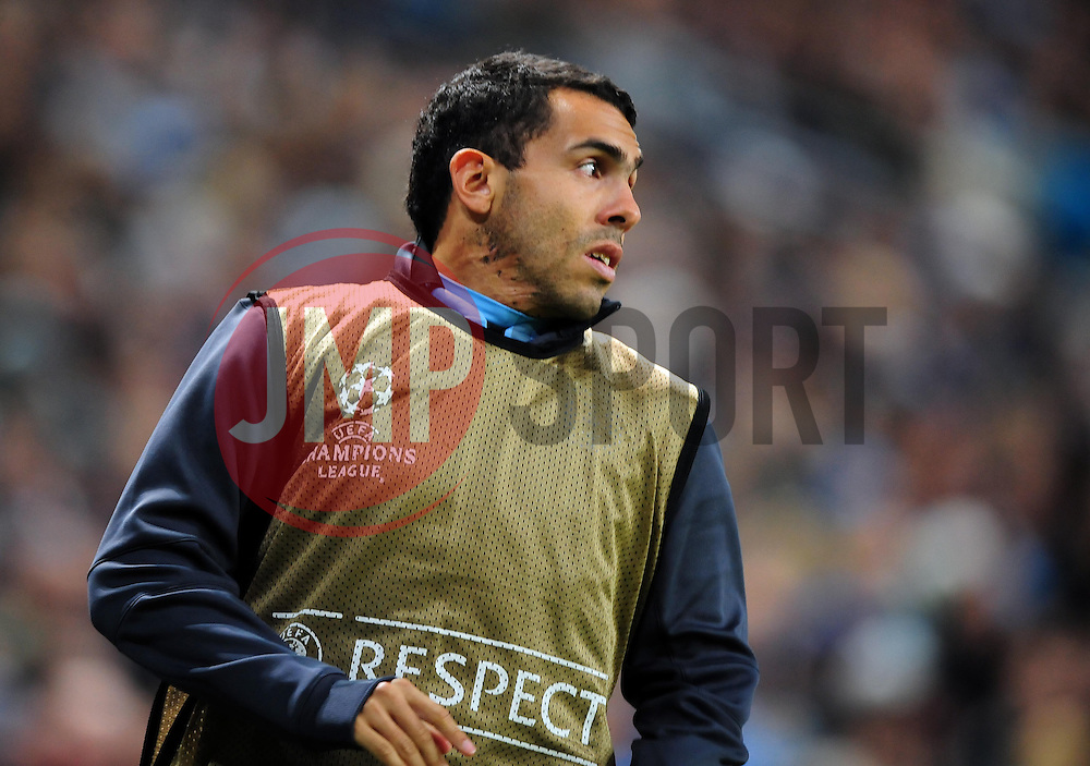 Manchester City's Carlos Tevez - Photo mandatory by-line: Joe Meredith/JMP  - Tel: Mobile:07966 386802 03/10/2012 - Manchester City v Borussia Dortmund - SPORT - FOOTBALL - Champions League -  Manchester   - Etihad Stadium -