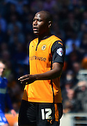 Wolves Goalscorer Benik Afobe during the Sky Bet Championship match between Wolverhampton Wanderers and Ipswich Town at Molineux, Wolverhampton, England on 18 April 2015. Photo by Alan Franklin.