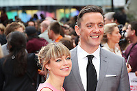 Sarah Alexander, Peter Serafinowicz, Spy - European Film Premiere, Leicester Square, London UK, 27 May 2015, Photo by Richard Goldschmidt