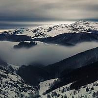 Balkan Mountains winter fogs