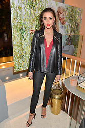 AMY JACKSON at the launch of the new J&M Davidson flagship shop at 104 Mount Street, London on 3rd February 2016.