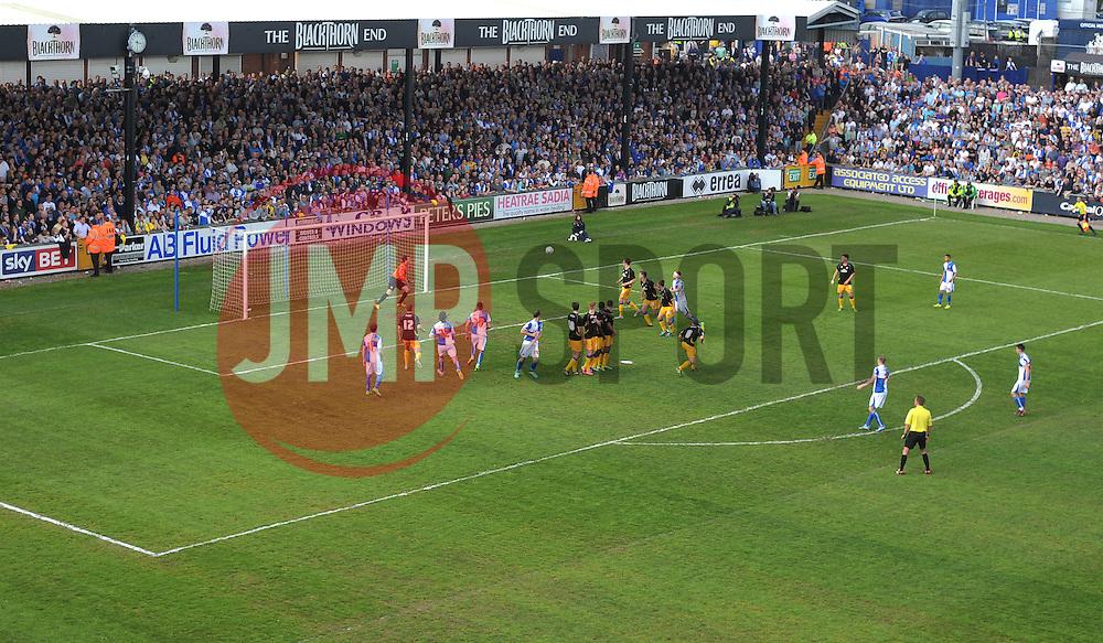 Bristol Rovers' David Clarkson misses a free kick. - Photo mandatory by-line: Alex James/JMP - Mobile: 07966 386802 03/05/2014 - SPORT - FOOTBALL - Bristol - Memorial Stadium - Bristol Rovers v Mansfield - Sky Bet League Two