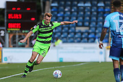 Forest Green Rovers Mark Roberts(21) crosses the ball during the EFL Sky Bet League 2 match between Wycombe Wanderers and Forest Green Rovers at Adams Park, High Wycombe, England on 2 September 2017. Photo by Shane Healey.