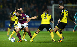Robert Snodgrass of Aston Villa goes past Kyle McFadzean of Burton Albion - Mandatory by-line: Robbie Stephenson/JMP - 26/09/2017 - FOOTBALL - Pirelli Stadium - Burton upon Trent, England - Burton Albion v Aston Villa - Sky Bet Championship