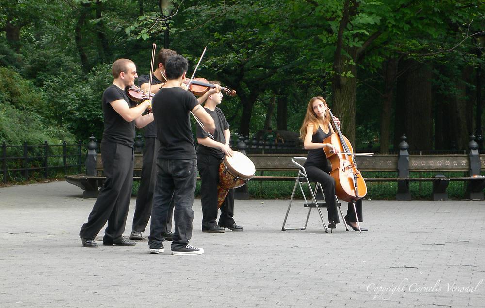 Musicians near the bandshell