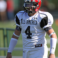 Andre Heidari during the practice session at the Walt Disney Wide World of Sports Complex in preparation for the Under Armour All-America high school football game on December 3, 2011 in Lake Buena Vista, Florida. (AP Photo/Alex Menendez)