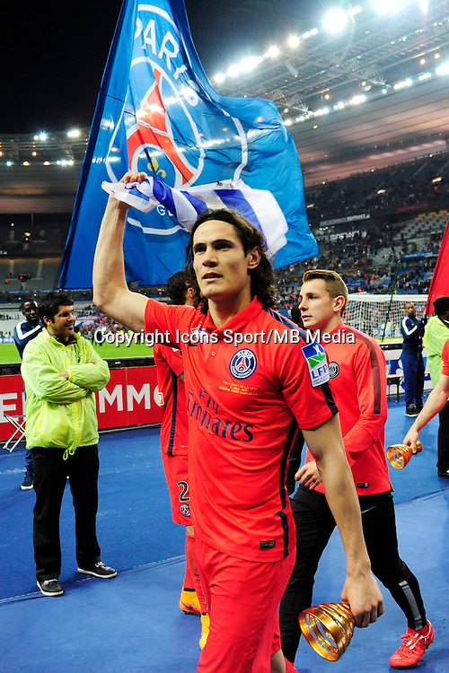 Victoire du PSG / Edinson CAVANI  - 11.04.2015 -  Bastia / PSG - Finale de la Coupe de la Ligue 2015<br />