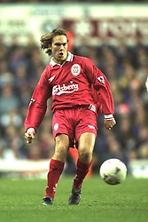 London, England - Monday, December 2, 1996: Liverpool's Jason McAteer in action during the 2-0 Premier League victory over Tottenham Hotspur at White Hart Lane. (Pic by David Rawcliffe/Propaganda)