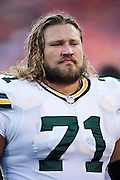 KANSAS CITY, MO - AUGUST 29:  Josh Sitton #71 of the Green Bay Packers warms up before the last preseason game against the Kansas City Chiefs at Arrowhead Stadium on August 29, 2013 in Kansas CIty, Missouri.  (Photo by Wesley Hitt/Getty Images) *** Local Caption *** Josh Sitton
