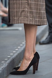 Detail view of the shoes of the Duchess of Sussex during a visit to view the newly unveiled UK war memorial and Pukeahu National War Memorial Park, in Wellington, on day one of the royal couple's tour of New Zealand.