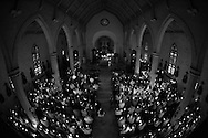Archbishop Gustavo Garcia-Siller during Holy Thursday services 2014.