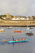 Isles of Scilly, 20 May 2009: St Mary's harbour with a view of the Parish Church of St Mary's, Hugh Town, on the Isles of Scilly. Photo by Peter Horrell / http://peterhorrell.com