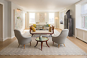 An interior at The Abingdon, a converted nursing home in Greenwich Village, New York City, now luxury condominuims.