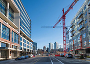 View up Dexter Avenue from Harrison Street, 18 March 2018, South Lake Union, Seattle, Washington, USA