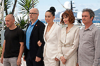 Radu Muntean, Santiago Loza, Naomi Kawase, Marie-Josee Croze and Jean-Marie Larrieu at the Cinefondation and Short Films Jury photo call at the 69th Cannes Film Festival Thursday 19th May 2016, Cannes, France. Photography: Doreen Kennedy