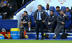 Leicester City manager Claude Puel looks on - Mandatory by-line: Robbie Stephenson/JMP - 29/10/2017 - FOOTBALL - King Power Stadium - Leicester, England - Leicester City v Everton - Premier League