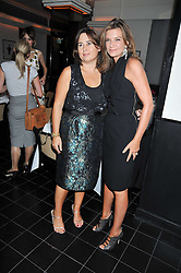 Left to right, ALEXANDRA SHULMAN and NATALIE MASSENET at a dinner hosted by Alexandra Shulman editor of British Vogue in association with Net-A-Porter.com to celebrate 25 years of London Fashion Week and Nick Knight held at Le Caprice, Arlington Street, London on 21st September 2009.