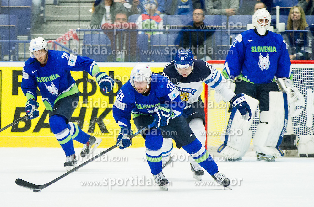 Jan Mursak of Slovenia during Ice Hockey match between Finland and Slovenia at Day 7 in Group B of 2015 IIHF World Championship, on May 7, 2015 in CEZ Arena, Ostrava, Czech Republic. Photo by Vid Ponikvar / Sportida
