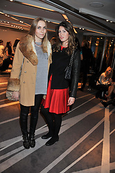BECKY TONG and STEPH CAVALCANTI at the NIP+FAB Bright Young Things Beauty Workshop Tea Party held at the W Hotel, Wardour Street, London W1 on 24th November 2012.