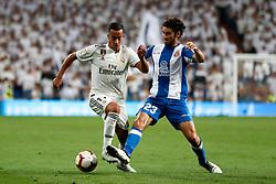 September 22, 2018 - Lucas Vazquez of Real Madrid and Esteban Granero of Espanyol during the La Liga (Spanish Championship) football match between Real Madrid and RCD Espanyol on September 22th, 2018 at Santiago Bernabeu stadium in Madrid, Spain. (Credit Image: © AFP7 via ZUMA Wire)