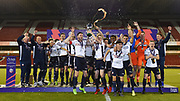 Bolton Wanderers celebrate Under 23s Champions of the Professional Development League Play-Off Final match between Nottingham Forest and Bolton Wanderers at the City Ground, Nottingham, England on 4 May 2018. Picture by Jon Hobley.