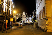 Mechelen is a city and municipality in the province of Antwerp, Flanders, Belgium.<br /> <br /> On the Photo: Grote Markt (Large Market square) by night