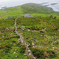 Rocky Terrain near Cahedaniel along the Ring of Kerry, Ireland <br />
