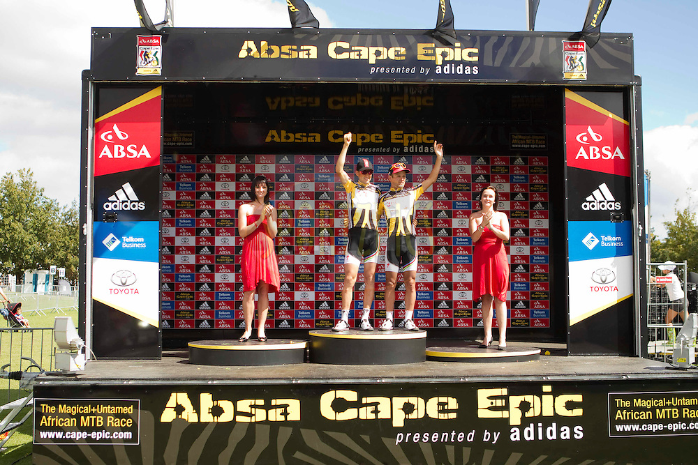during stage 6 of the 2011 Absa Cape Epic Mountain Bike stage race held in and around Oak Valley on the 2nd April 2011..Photo by Gary Perkin/Cape Epic/SPORTZPICS