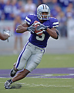 Kansas State running back Thomas Clayton rushed for 118-yards and a touchdown against Louisville at Bill Snyder Family Stadium in Manhattan, Kansas, September 23, 2006.  The 8th ranked Louisville Cardinals beat K-State 24-6.