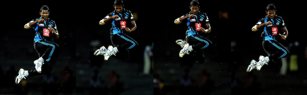Composit image made up of four images showing Chathuraga Kumara celebrating the wicket of Dilruwan Perera during match 20 of the Sri Lankan Premier League between Ruhuna Royals and Wayamba United held at the Premadasa Stadium in Colombo, Sri Lanka on the 26th August 2012. .Photo by Ron Gaunt/SPORTZPICS/SLPL