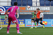 Egle Kaja of AFC Wimbledon crosses the ball during the Sky Bet League 2 match between Luton Town and AFC Wimbledon at Kenilworth Road, Luton, England on 26 September 2015. Photo by Stuart Butcher.