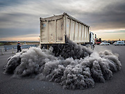 NEWS PICTURES-02/002/2016<br /> French farmers attend a demonstration and block the highway next to Arles, Southern France, 02 February 2016. Farmers staged a protest against falling prices of rice and meat