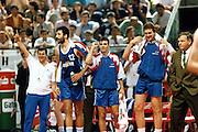 Europei Roma 1991<br /> Esultanza della panchina della Jugoslavia<br /> Foto: Fabio Ramani