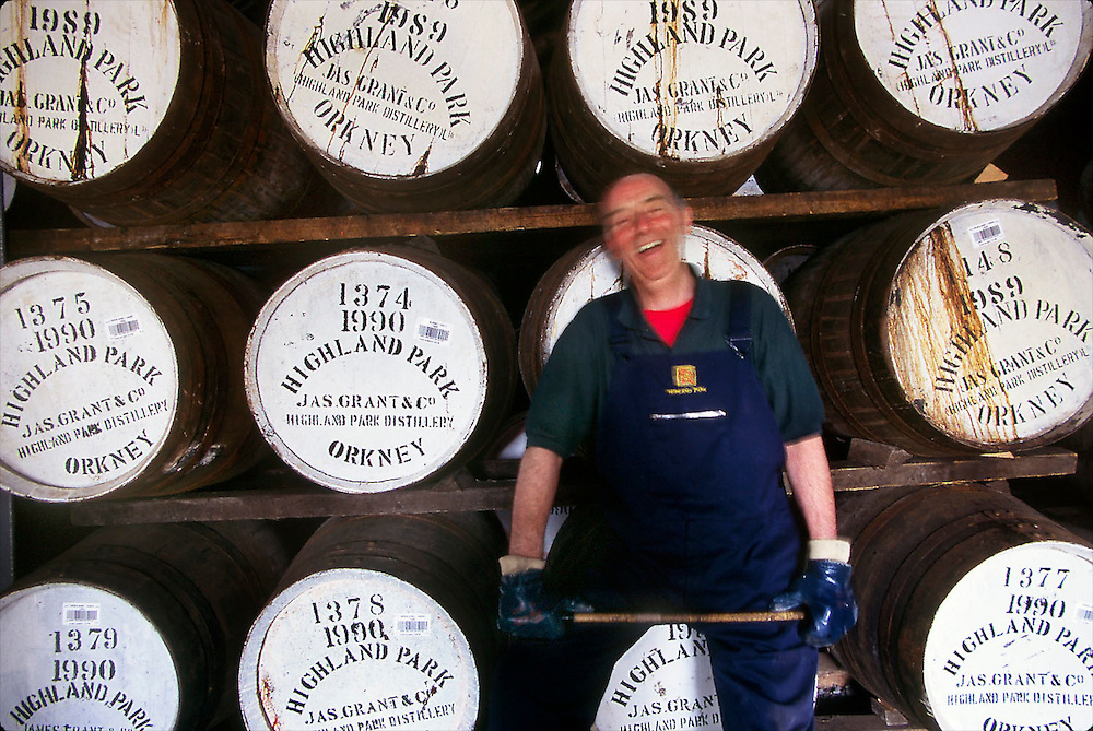 In the Highland Park whisky warehouse in Kirkwall, Orkney