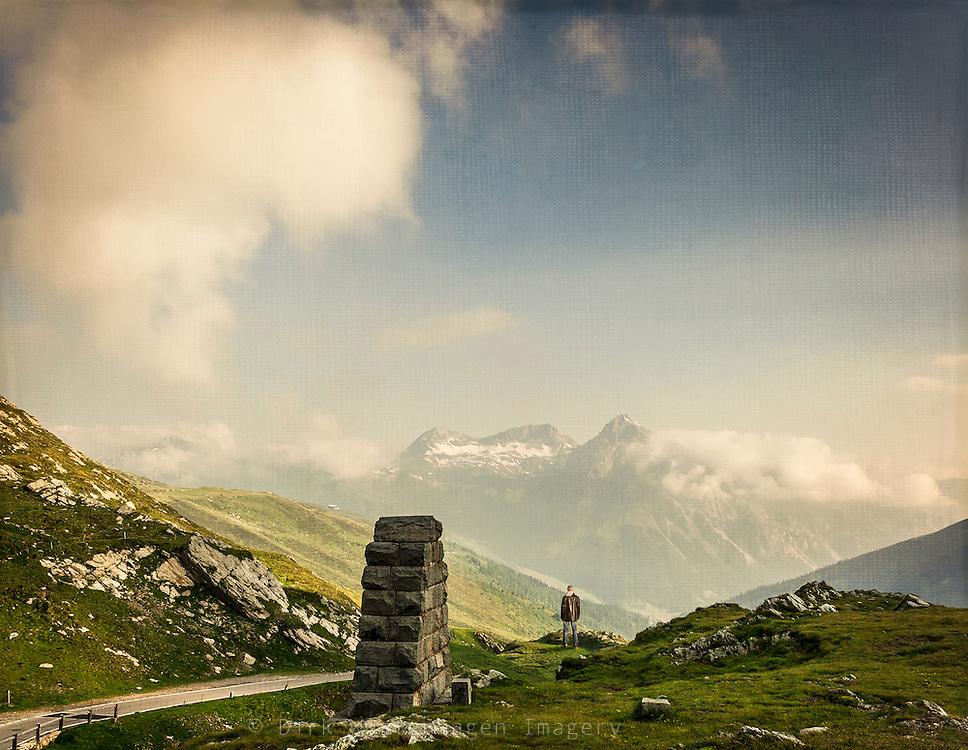 View of Surretta massif seen from Slupen pass.
