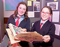 Aoife Nolan and Mary Sheridan Belmont NS, at the Medtronic Community Event , comprising of projects about Healthy Living and the heart, KNEX finals and Lean Sigma catapult competition organised by the Galway Education Centre at the Radisson Blu Hotel Galway. Photo:Andrew Downes.