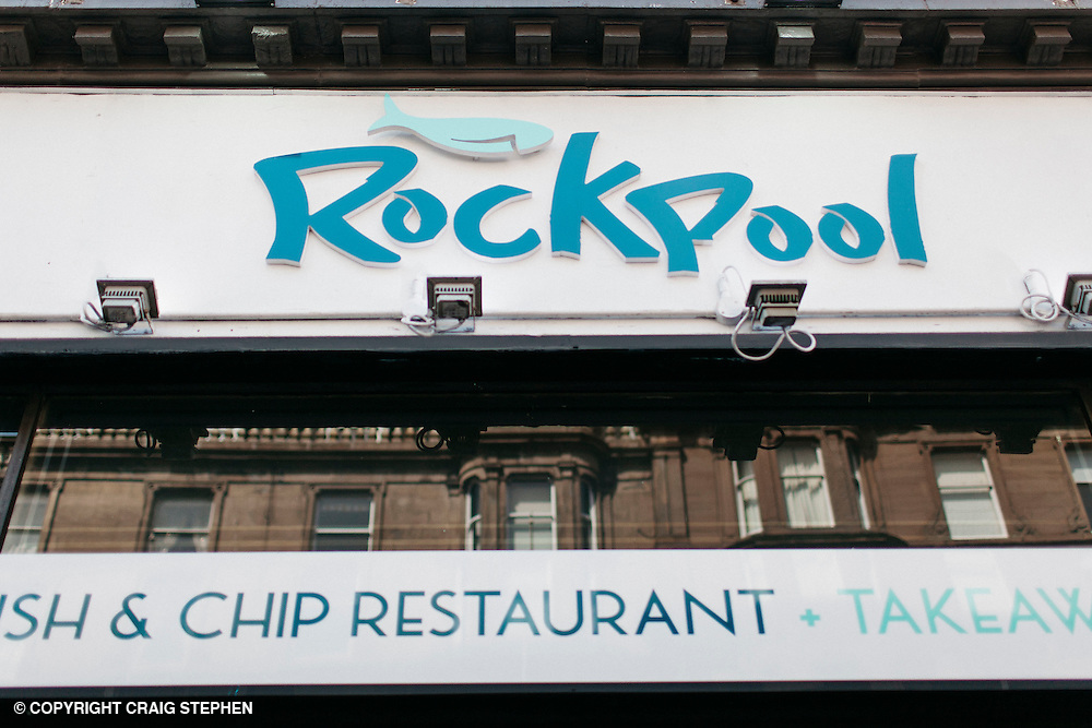 The List Magazine / Dundee City Council - Dundee Larder publication food / environmental photography.<br /> <br /> Rockpool fish &amp; chip restaurant, Whitehall Street, Dundee.