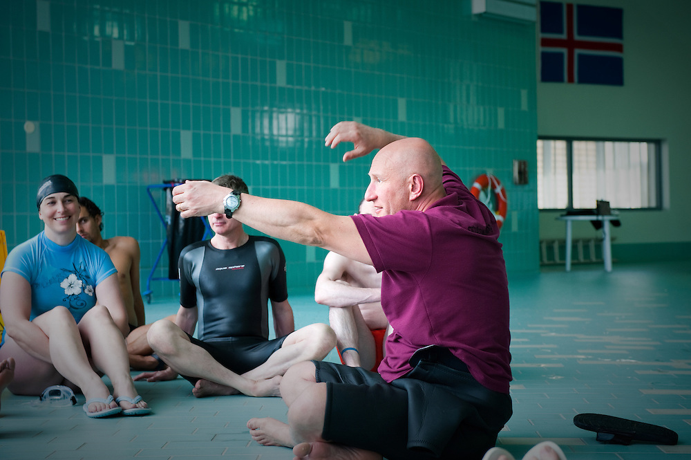 An Art of Swimming workshop at the Laugardalur pool in Reykjavik, Iceland.