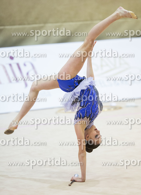 Elena Milenkovic of Croatia competes during 27th MTM - International tournament in rhythmic gymnastics Ljubljana, on April 19, 2014 in Arena Krim, Ljubljana, Slovenia. Photo by Vid Ponikvar / Sportida