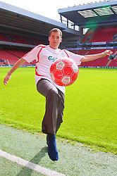 LIVERPOOL, ENGLAND - Thursday, September 6, 2007: Liverpool FC.TV presenter Matt Critchley at Anfield. (Photo by David Rawcliffe/Propaganda)